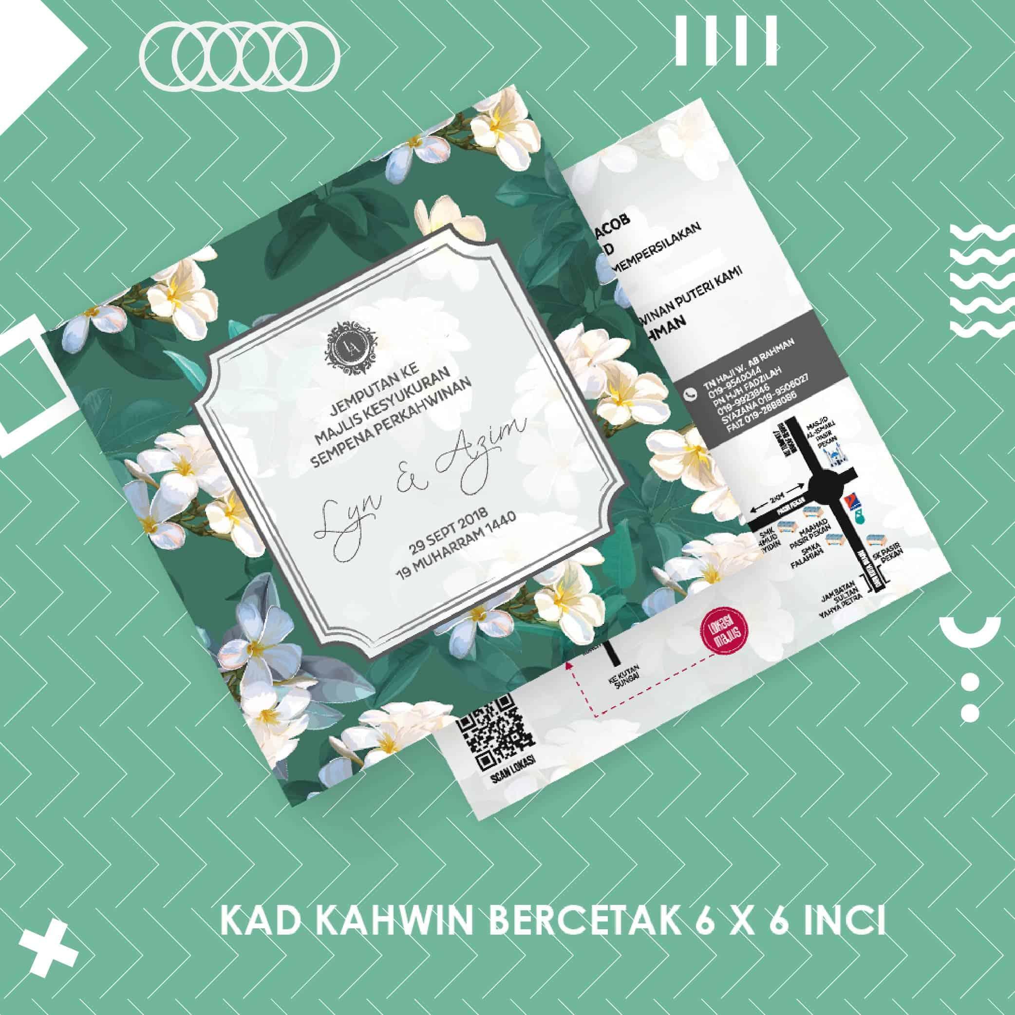 Kad Kahwin Digital Kod 62 Kad Kahwin